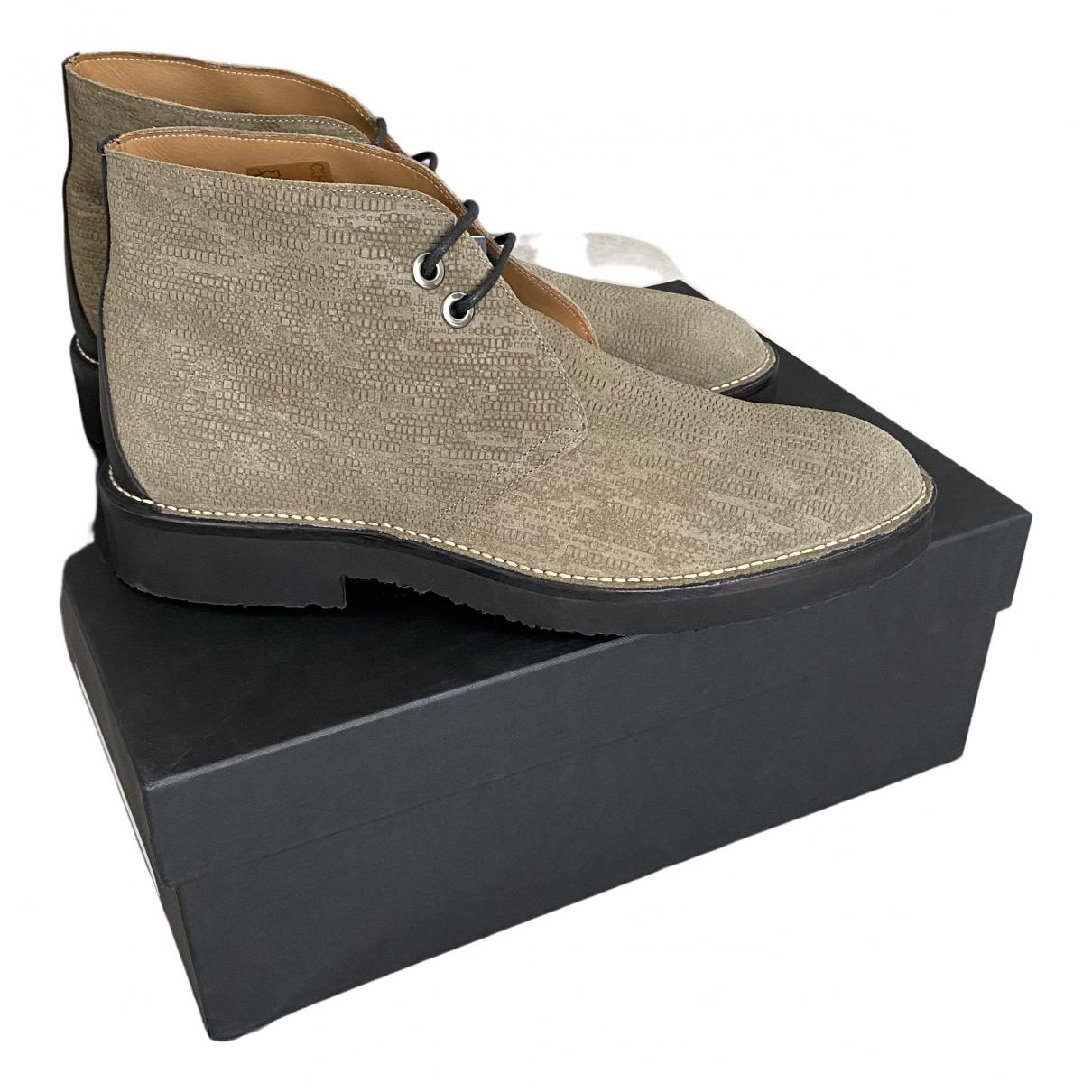 Giuseppe Zanotti \N Beige Leather Boots for Men 43 EU