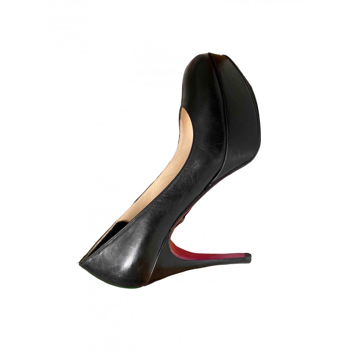 Luciano Padovan \N Black Leather Heels for Women 36 EU