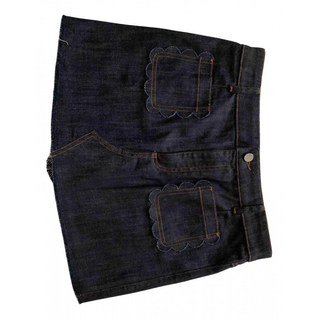 Red Valentino Garavani \N Rocke in  Blau Denim - Jeans
