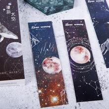 10sheets Random Planet Print Bookmark