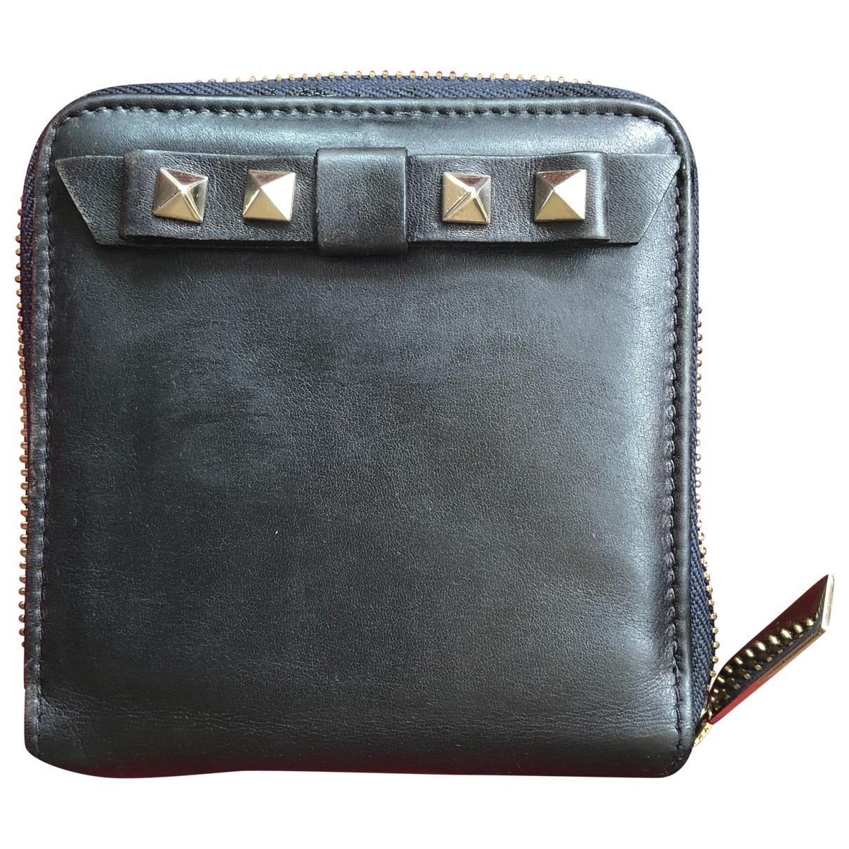 Valentino Garavani \N Black Leather wallet for Women \N