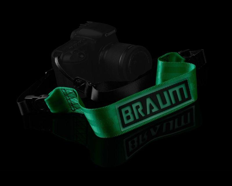 Braum Racing BRPR-GNCS Logo Camera Strap - Green