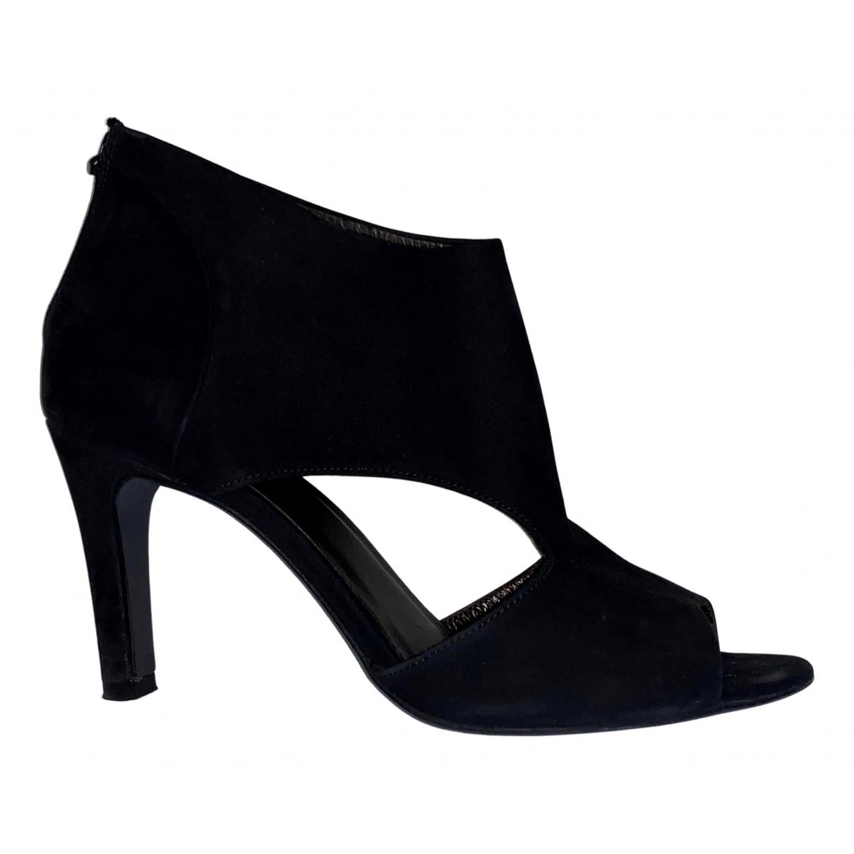 Comptoir Des Cotonniers - Escarpins   pour femme en suede - noir