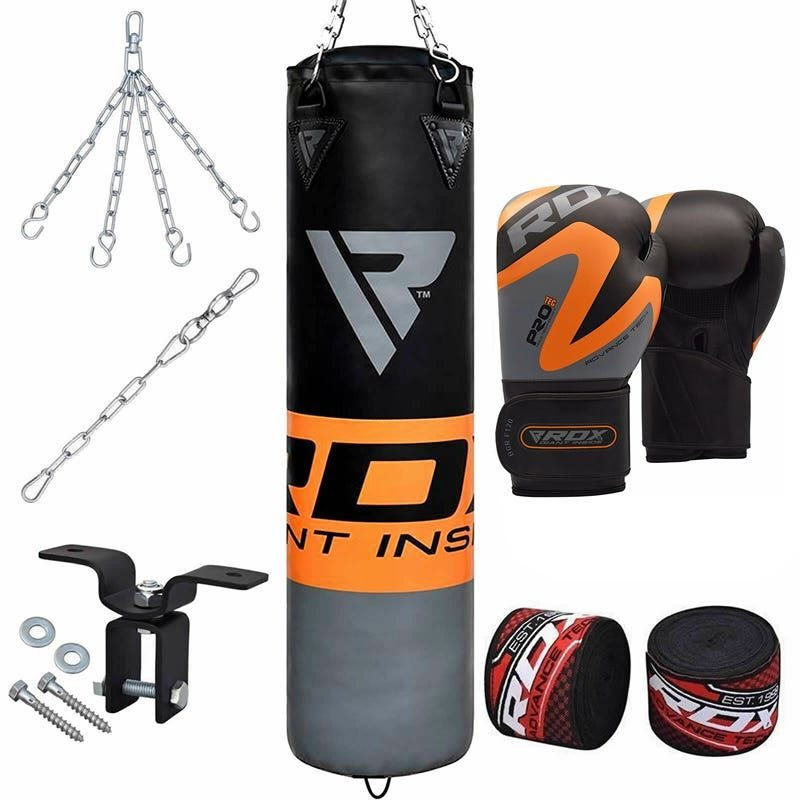 RDX 8pc Orange Sac de Frappe Gym a domicile Set