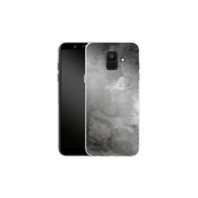 Samsung Galaxy A6 Silikon Handyhuelle - Black Watercolor von Emanuela Carratoni