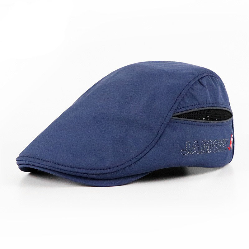 Mens Womens Summer Breathable Simple Beret Cap Duck Hat Sunshade Casual Outdoors Peaked Forward Cap
