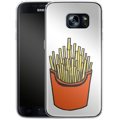 Samsung Galaxy S7 Silikon Handyhuelle - Fries von caseable Designs