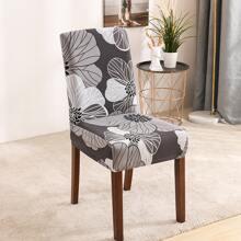 Funda de silla elastica con estampado de flor