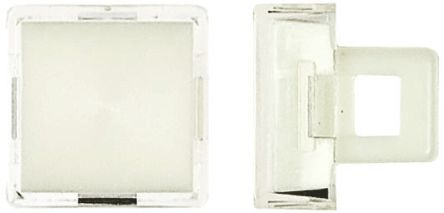 Saia-Burgess Sq wht lens for 16mm pushbutton switch (5)