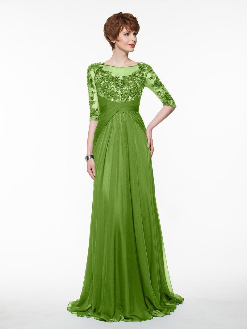 Ericdress Bateau Neck Sequins Half Sleeve Mother Of The Bride Dress