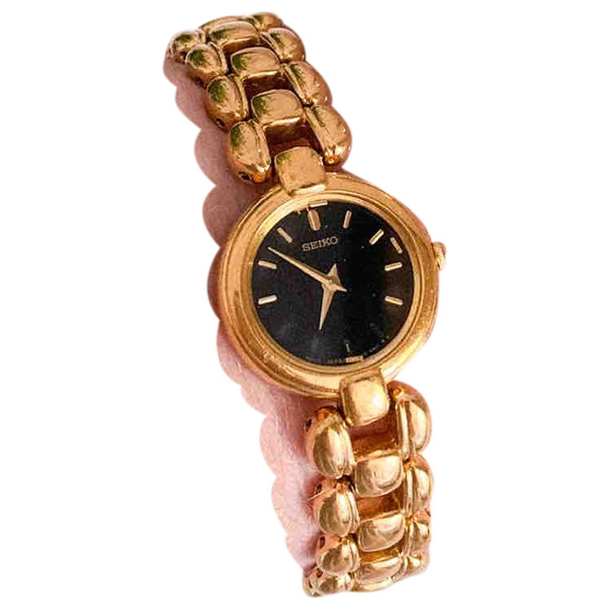 Seiko N Gold Steel watch for Women N