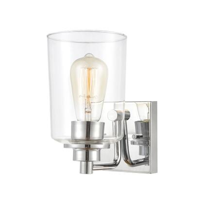 46620/1 Robins 1-Light Vanity Light in Polished Chrome with Clear
