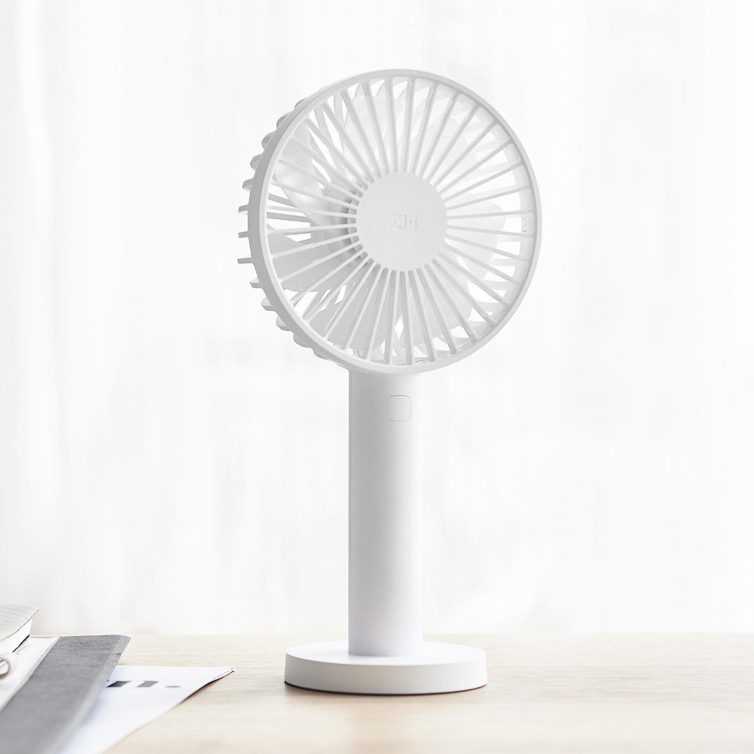 Zmi 3 Speeds Cooling Fan from Xiaomi Eco-System Portable Handheld With Rechargeable Built-in Battery 2600mAm/3350mAh USB