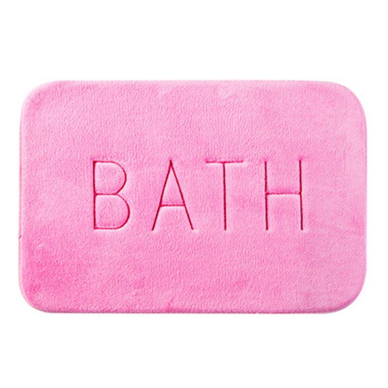 Modern Simple Thick Water Absorption Soft and Nonslip Bath Rug Bath Mat