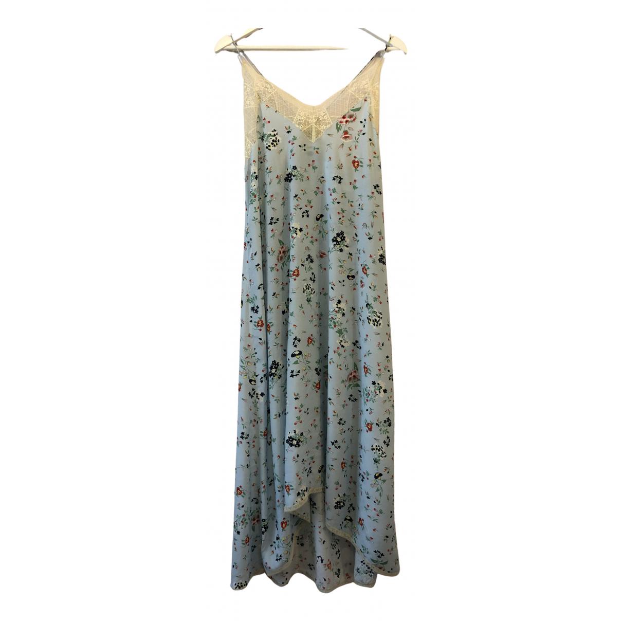Zadig & Voltaire \N Kleid in  Blau Seide