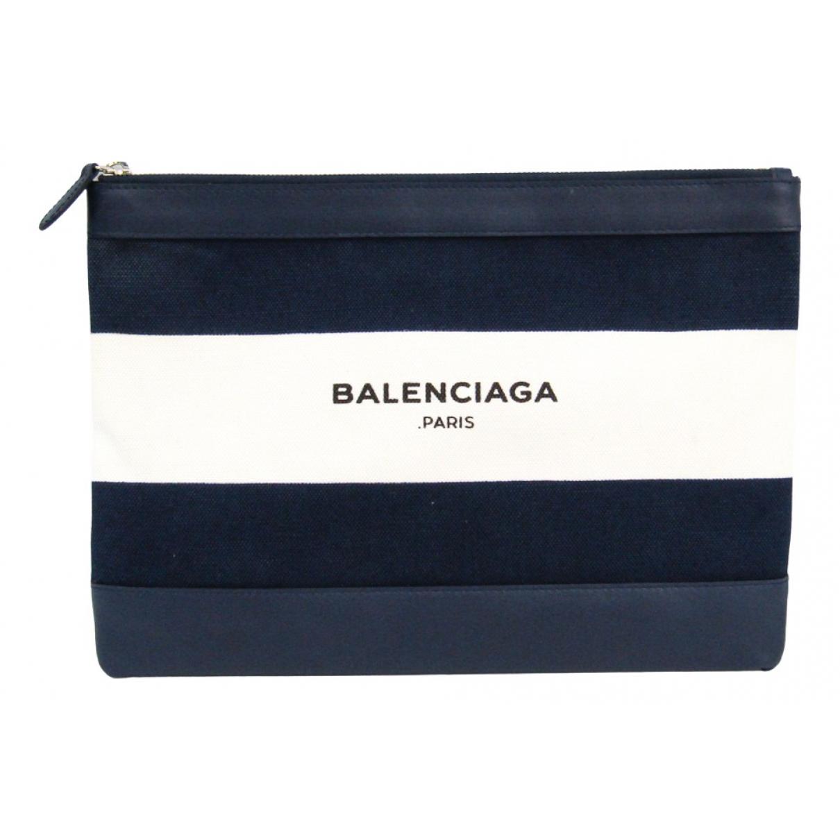 Balenciaga Navy cabas Navy Cloth Clutch bag for Women N