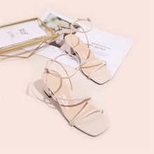 Thin Strap Chunky Heeled Sandals