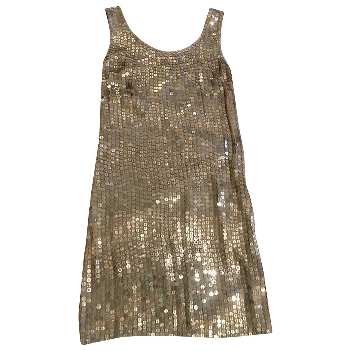Ambre Et Babzoe \N Kleid in  Silber Mit Pailletten