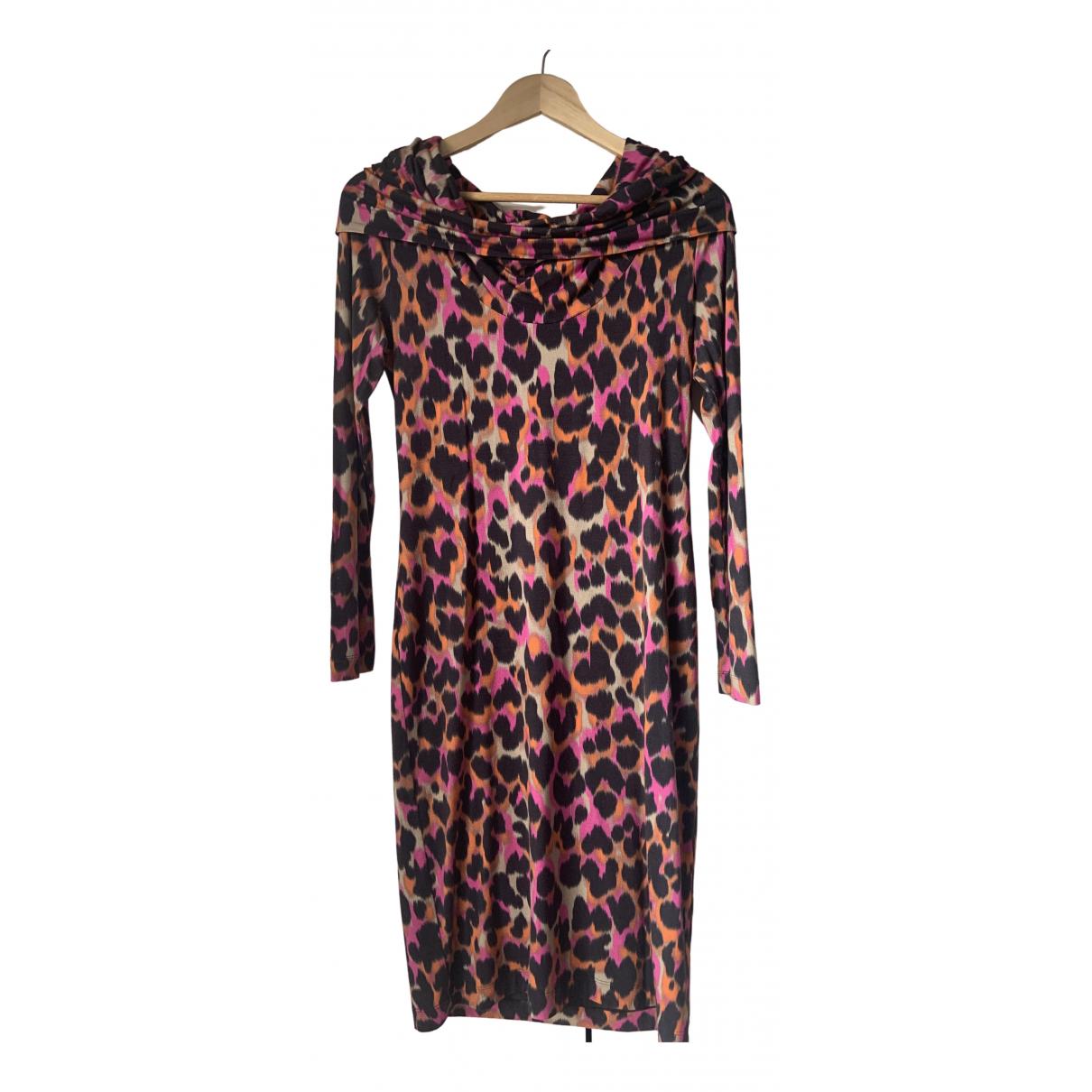 Roberto Cavalli \N Kleid in  Rosa Baumwolle
