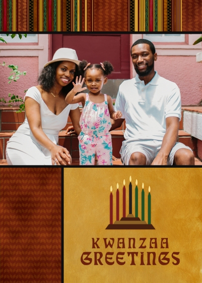Kwanzaa Photo Cards 5x7 Folded Cards, Premium Cardstock 120lb, Card & Stationery -Kwanzaa Greetings