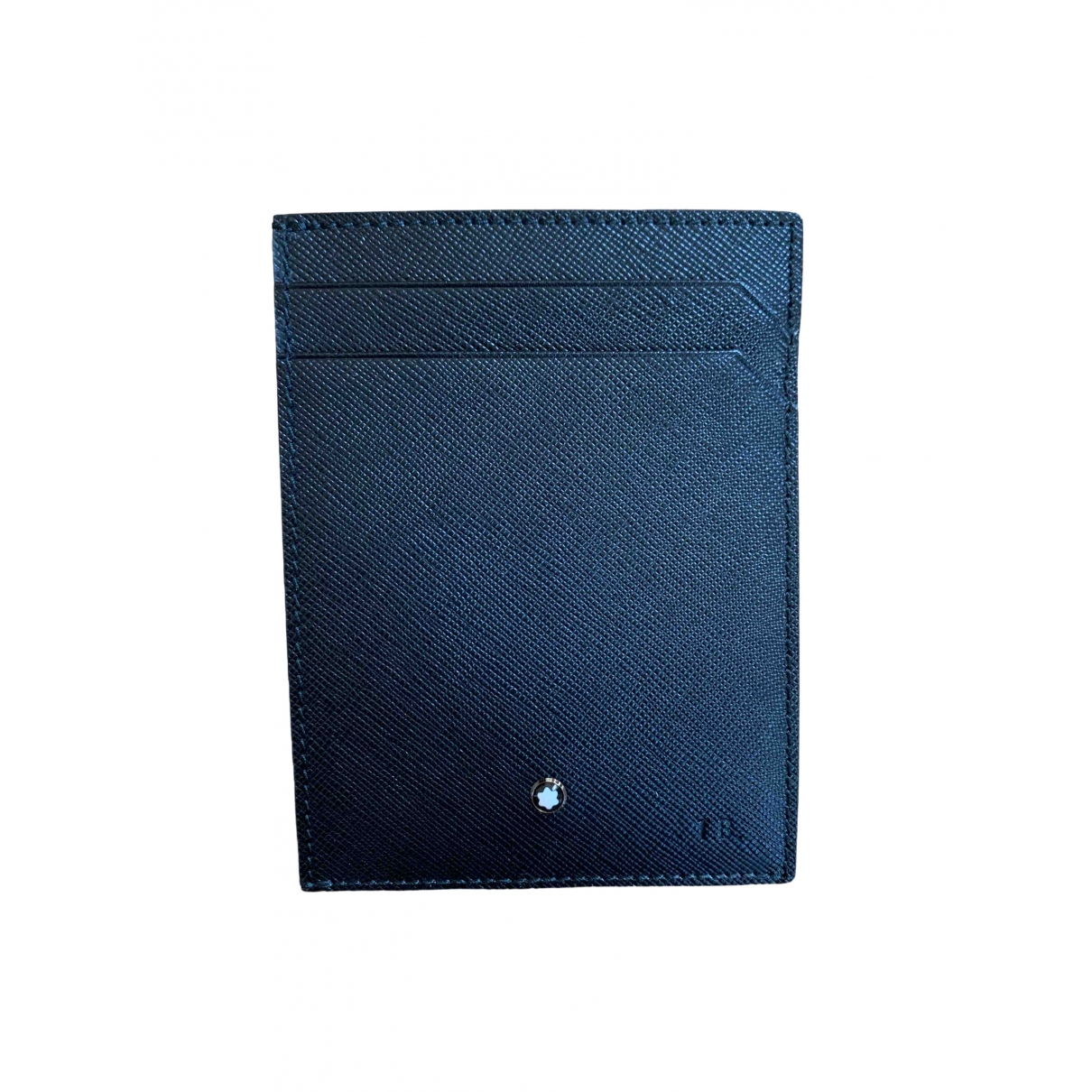 Montblanc \N Black Leather Small bag, wallet & cases for Men \N