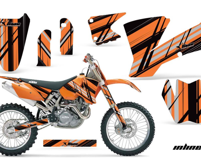 AMR Racing Dirt Bike Graphics Kit Decal Wrap For KTM  SX SXS EXC MXC 2001-2004áINLINE ORANGE