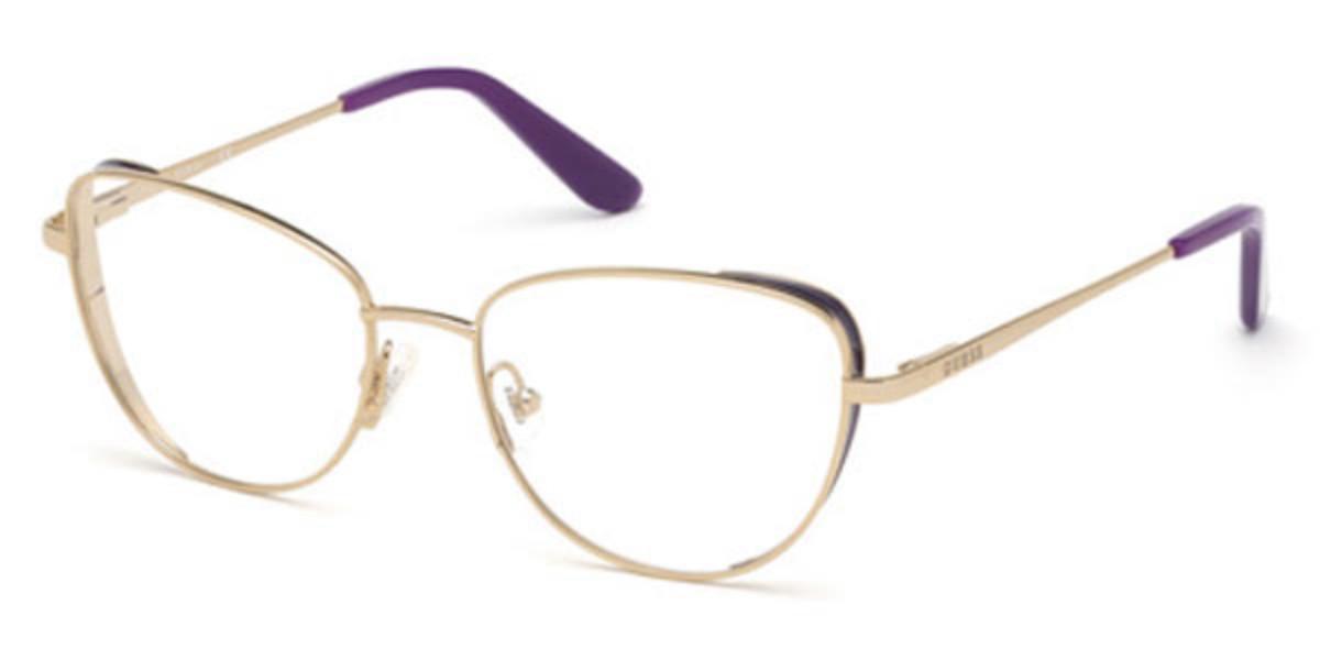 Guess GU 2701 083 Women's Glasses Gold Size 53 - Free Lenses - HSA/FSA Insurance - Blue Light Block Available