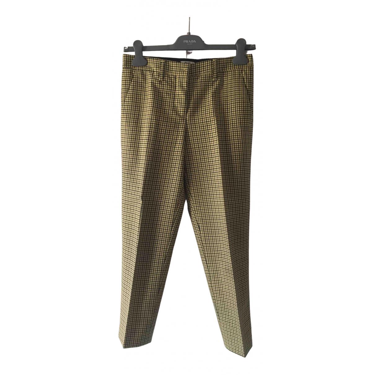 Miu Miu N Multicolour Wool Trousers for Women 36 IT