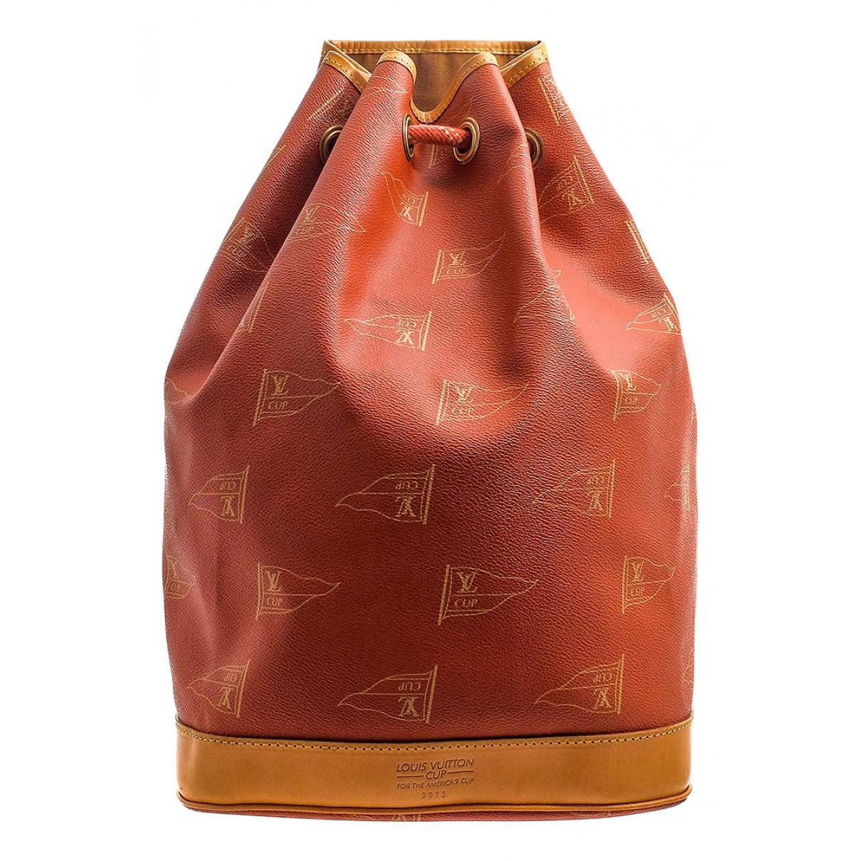 Louis Vuitton - Sac a dos   pour femme en toile - orange