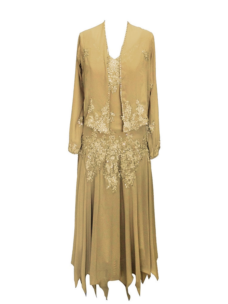Ericdress Beaded Appliques Mother Of The Bride Dress with Jacket