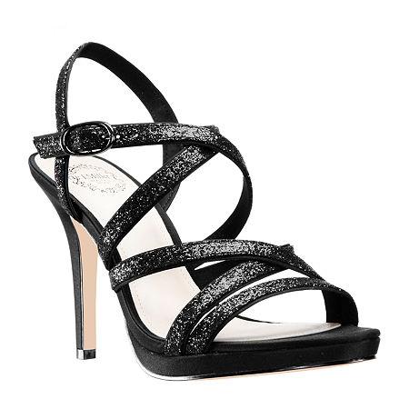 I. Miller Womens Ricole Open Toe Cone Heel Pumps, 7 Medium, Black