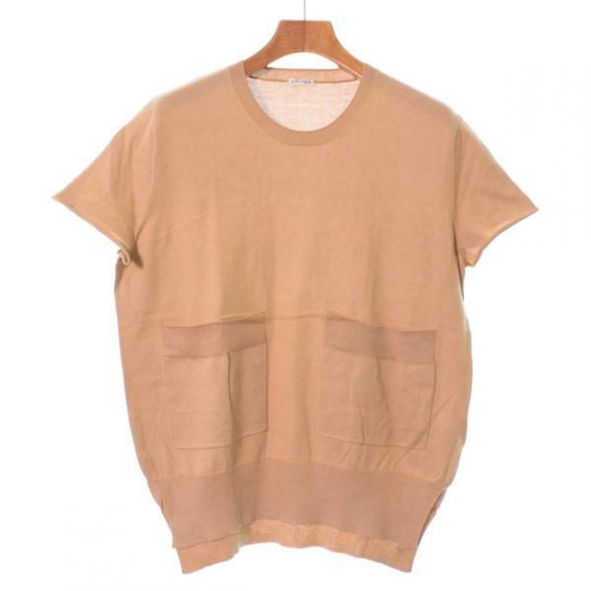 Celine \N Pullover in  Beige Baumwolle