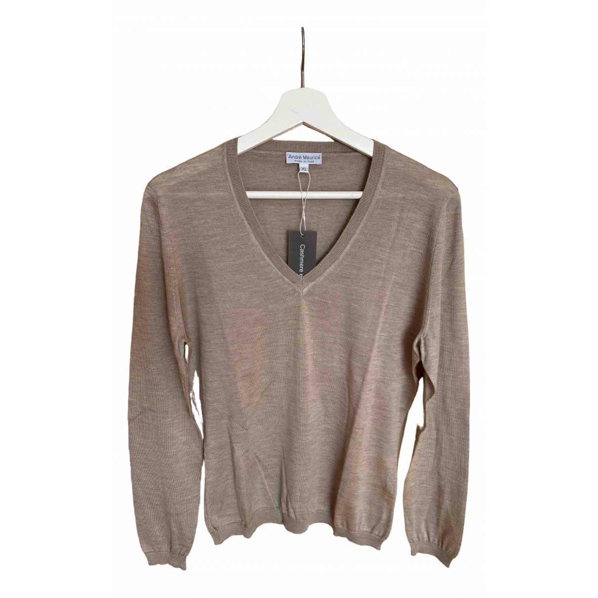 Non Signé / Unsigned \N Beige Cashmere Knitwear for Women M International