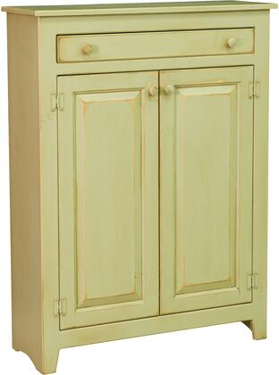Ruth 465001 36 Pie Safe with 2 Doors  1 Drawer  Simple Knobs and Premium Grade Pine Wood Construction in Celery