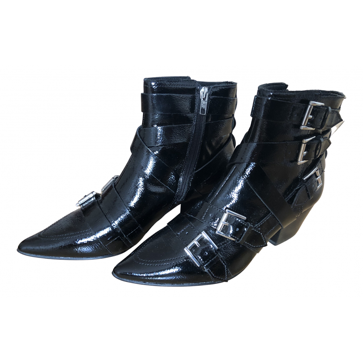 Ash N Black Patent leather Ankle boots for Women 39 EU