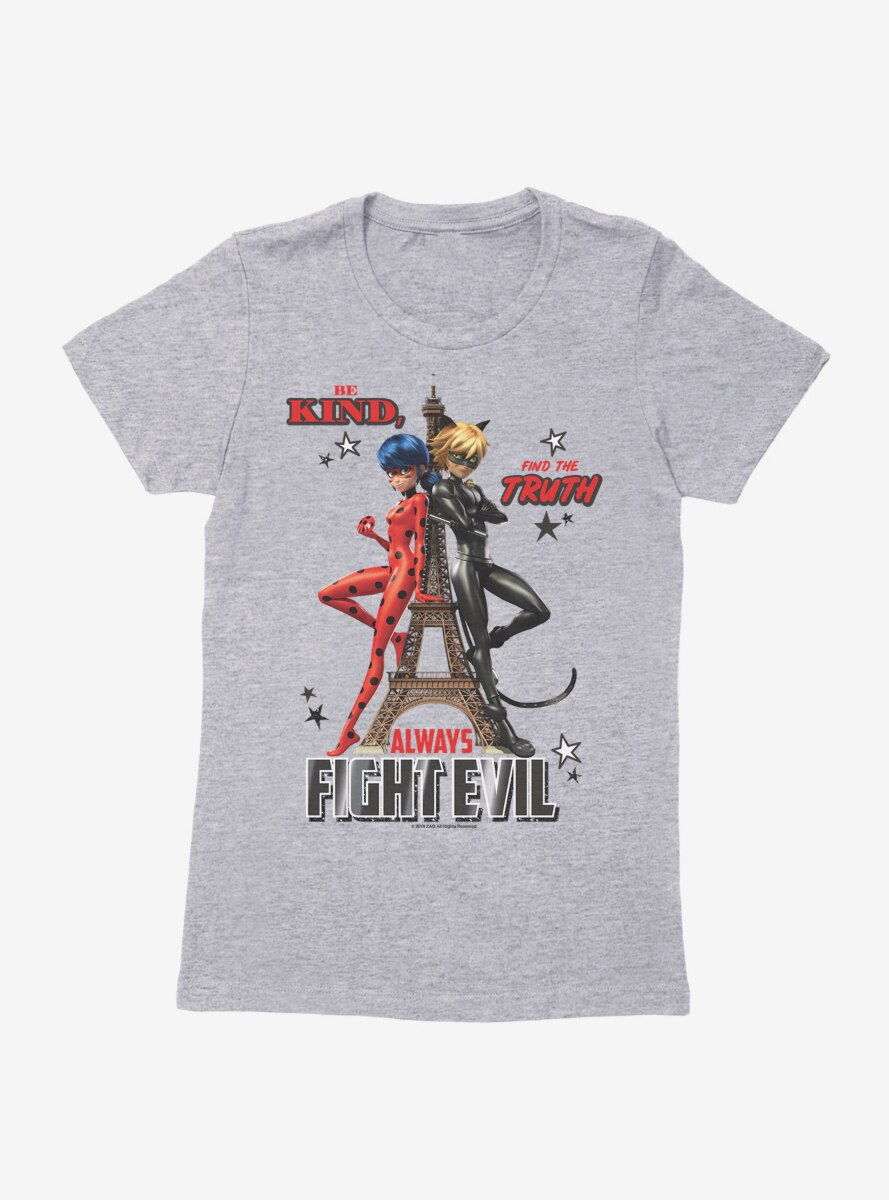 Miraculous: Tales Of Ladybug And Cat Noir Always Fight Evil Womens T-Shirt
