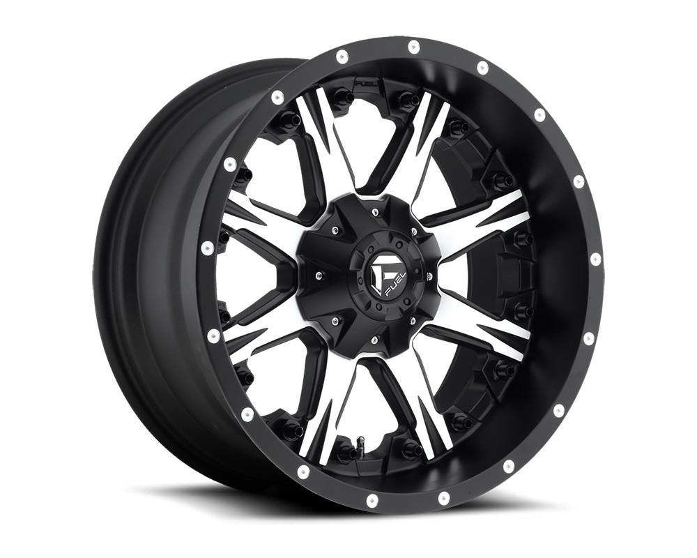 Fuel D541 Nutz Black & Machined 1-Piece Cast Wheel 20x10 5x139.7 5x150 -12mm
