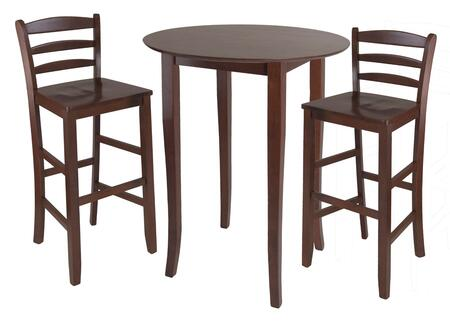 94389 Fiona 3-Pc High Round Table with 2 Ladder Back