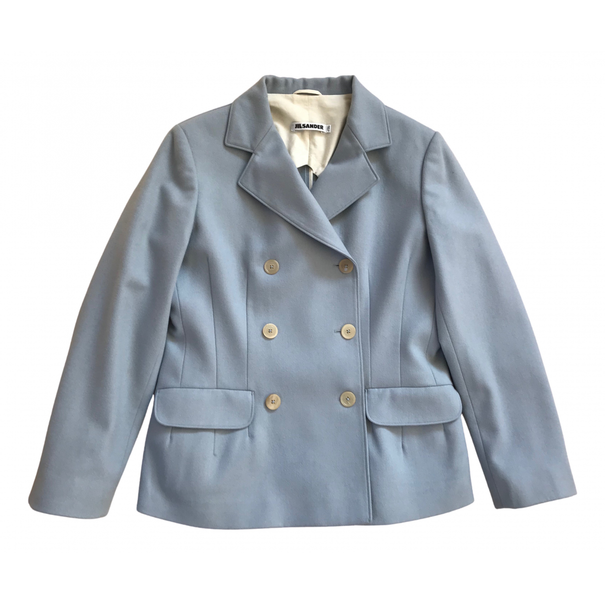 Jil Sander N Blue Wool jacket for Women 40 IT