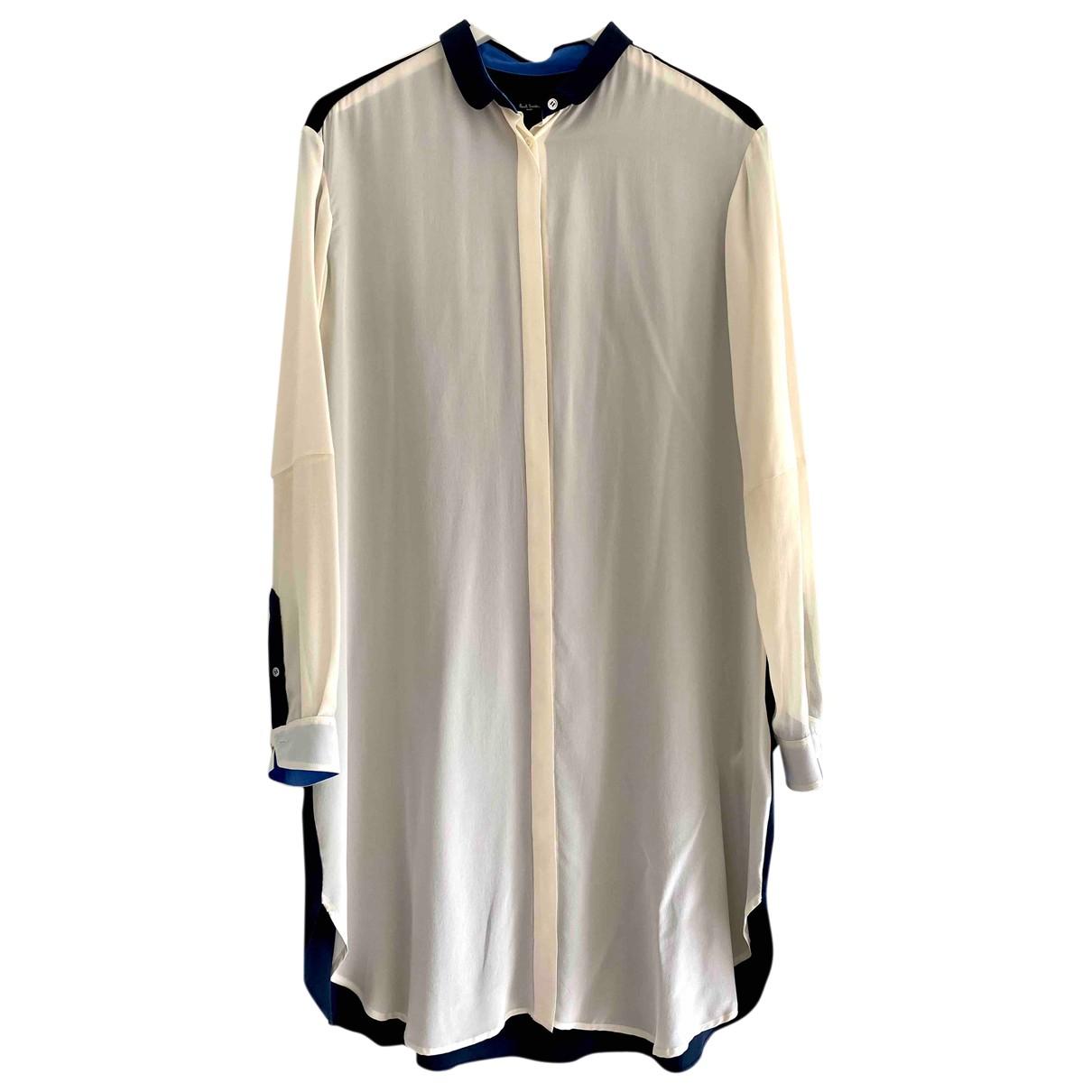 Paul Smith - Robe   pour femme en soie - marine