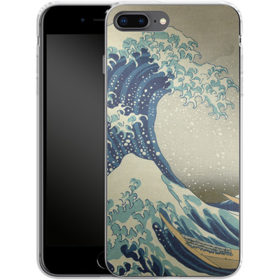 Apple iPhone 7 Plus Silikon Handyhuelle - Great Wave Off Kanagawa By Hokusai von caseable Designs