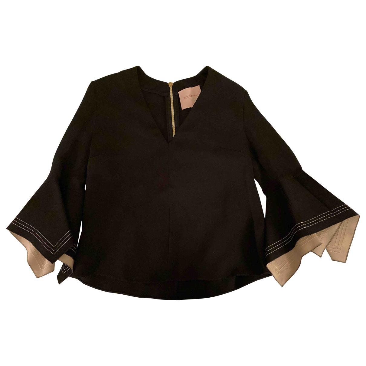 Roksanda \N Black Silk  top for Women 6 UK