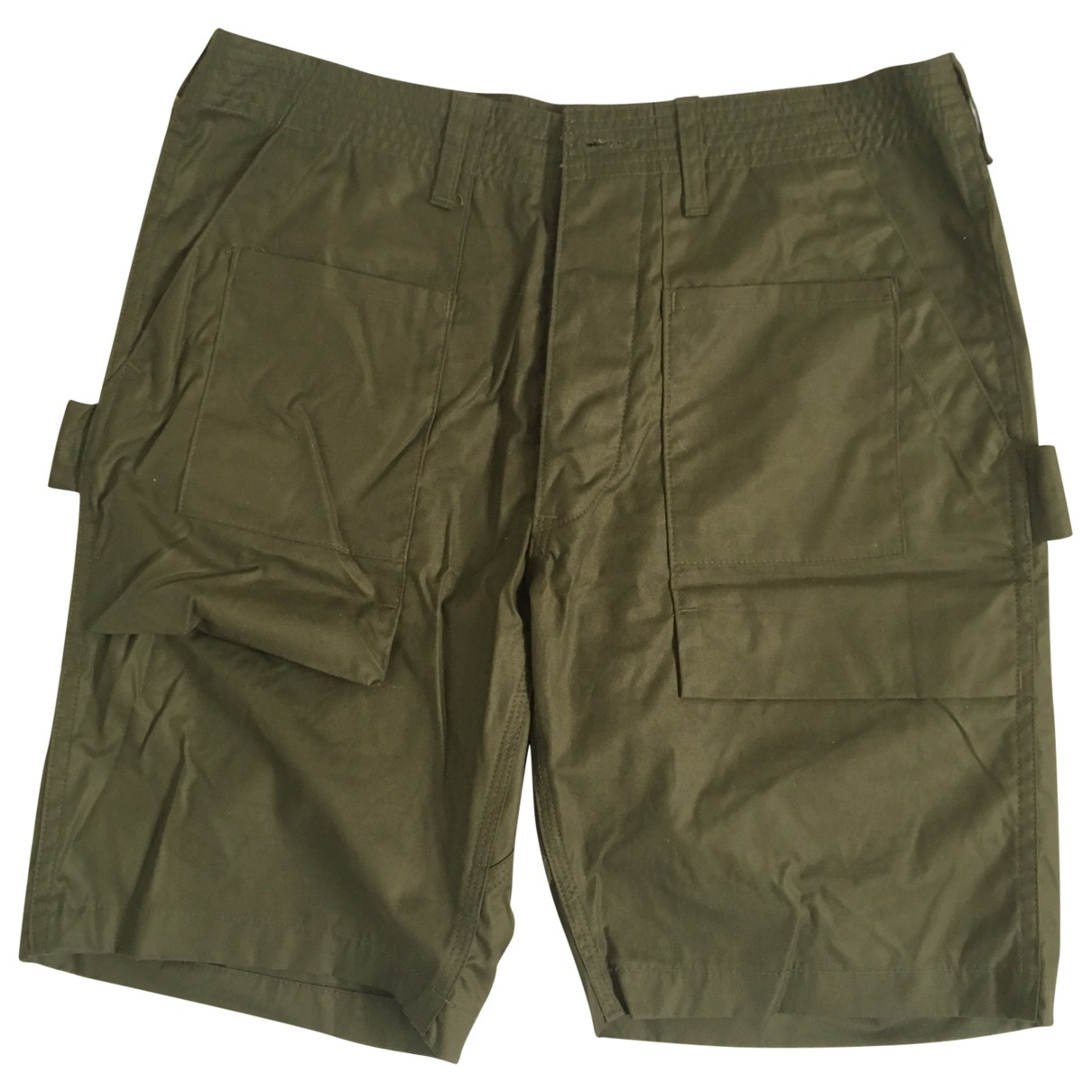 Non Signe / Unsigned \N Hose in  Khaki Baumwolle