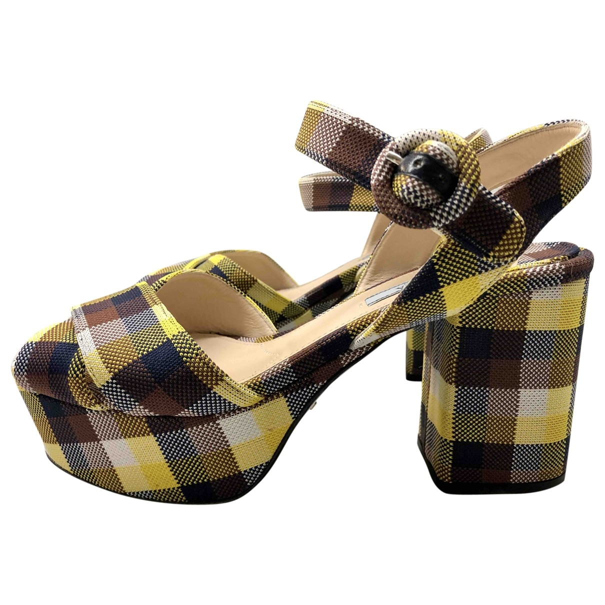 Prada \N Yellow Cloth Sandals for Women 40 EU