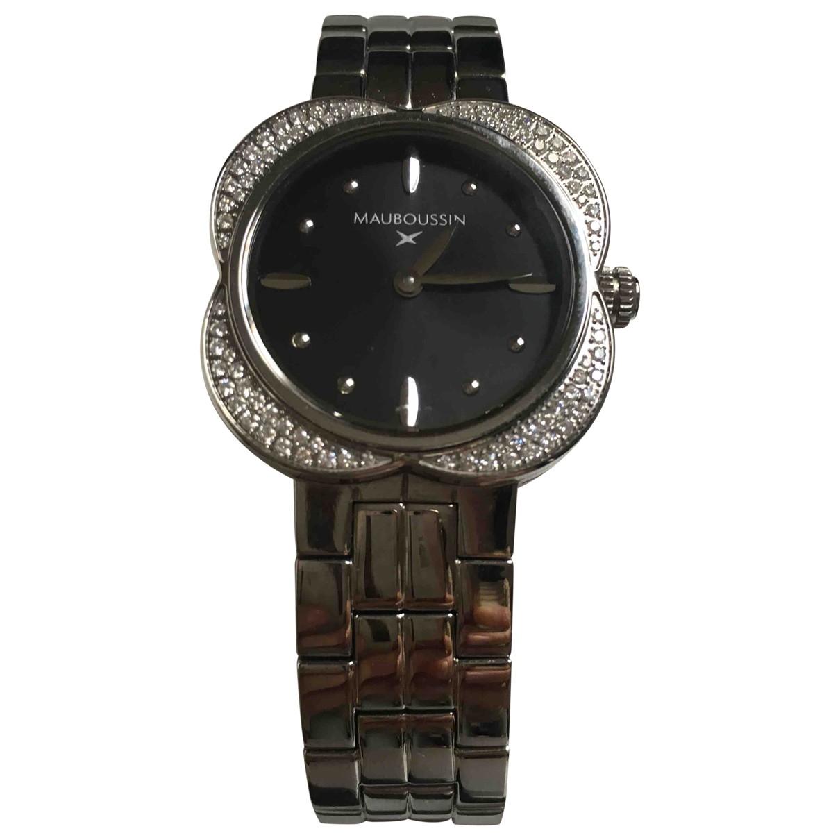 Mauboussin \N Silver Steel watch for Women \N