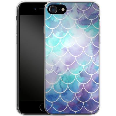 Apple iPhone 8 Silikon Handyhuelle - Purple Mermaid Scales von Becky Starsmore