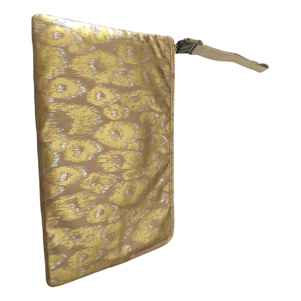 Lanvin \N Clutch in  Gold Leinen