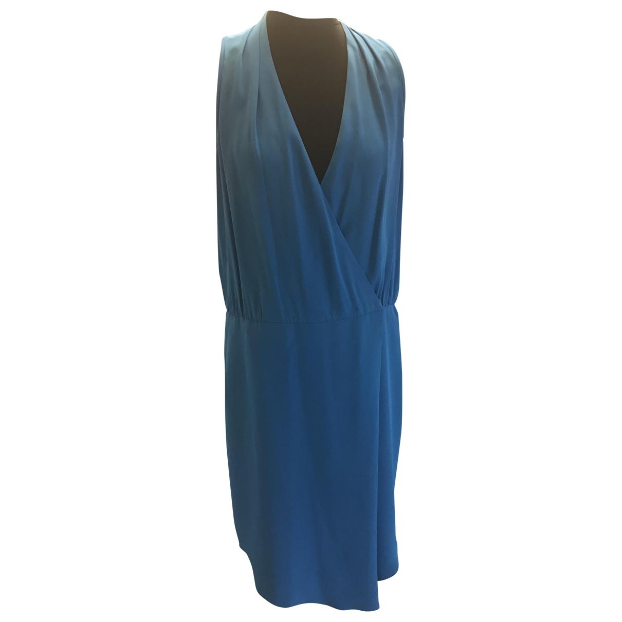 Tibi \N Kleid in  Blau Seide