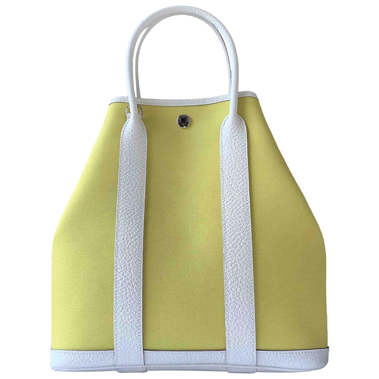 Hermès Garden Party Yellow Leather handbag for Women N