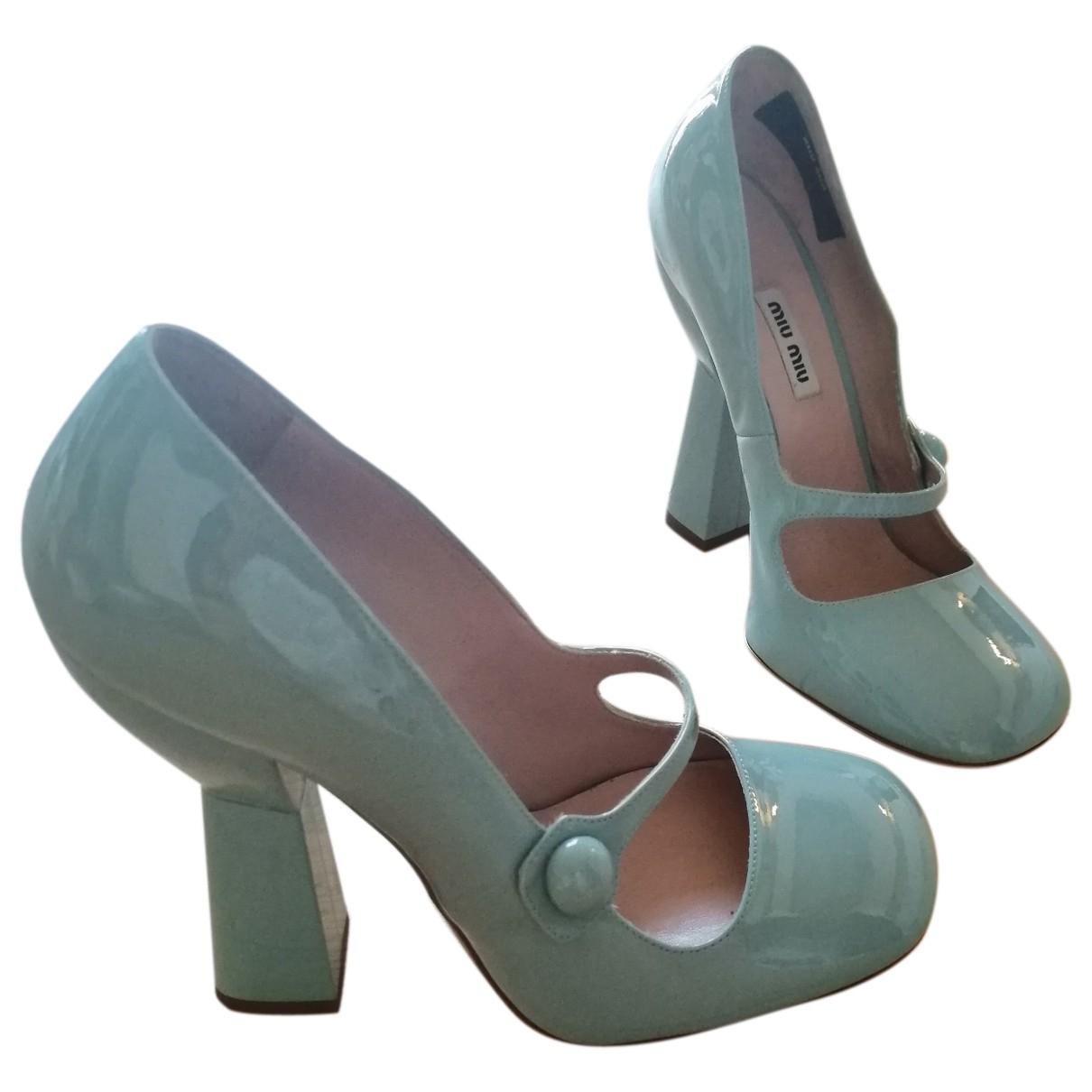 Miu Miu \N Blue Patent leather Heels for Women 40 EU